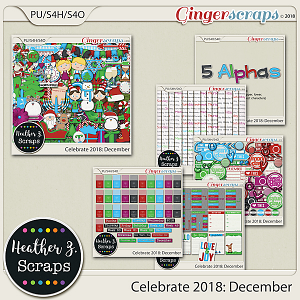 Celebrate 2018: December BUNDLE by Heather Z Scraps