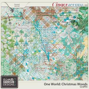 Christmas Woods Graffiti by Aimee Harrison