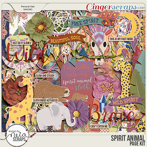 Spirit Animal - Page Kit - by Neia Scraps