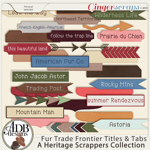 Fur Trade Frontier Word Art by ADB Designs