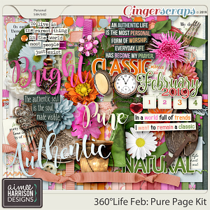 360°Life Feb: Pure Page Kit by Aimee Harrison