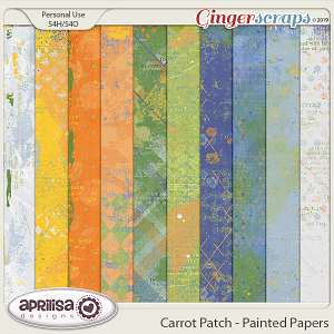 Carrot Patch - Painted Papers by Aprilisa Designs