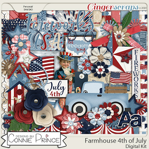 Farmhouse 4th of July - Kit by Connie Prince