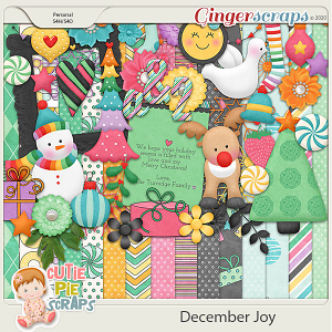 December Joy - Christmas Kit - Digital Scrapbooking Kit