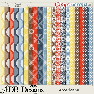 Americana Extra Papers by ADB Designs