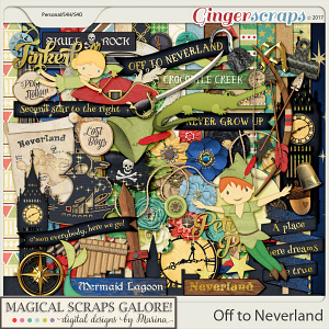 Off To Neverland (page kit)