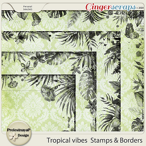 Tropical vibes Stamps & Borders