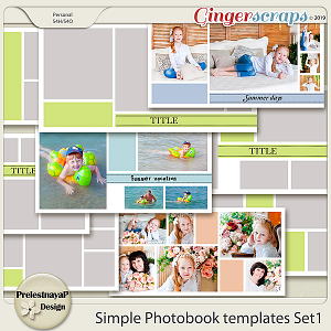 Simple Photobook templates Set 1