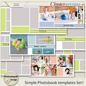 Simple Photobook templates Set 1