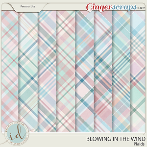Blowing In The Wind Plaids by Ilonka's Designs