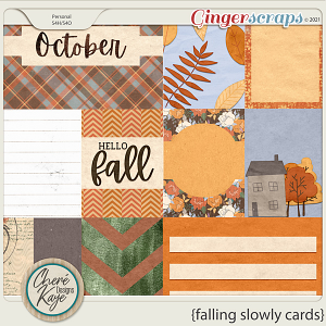 Falling Slowly Cards by Chere Kaye Designs