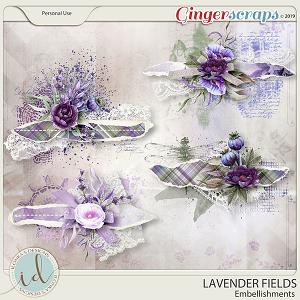 Lavender Fields Embellishments by Ilonka's Designs