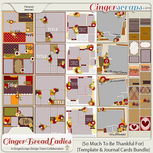 GingerBread Ladies Collab: So Much To Be Thankful For