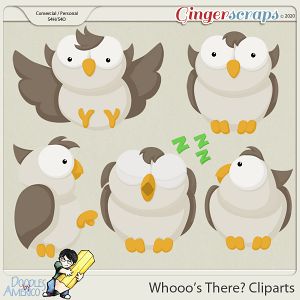 Doodles By Americo: Whooo's There? Cliparts