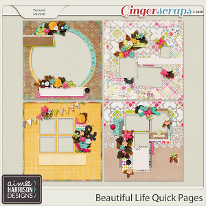 Beautiful Life Quickpages by Aimee Harrison