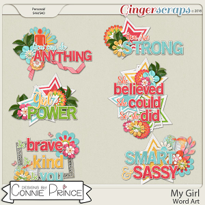My Girl - Word Art Pack by Connie Prince