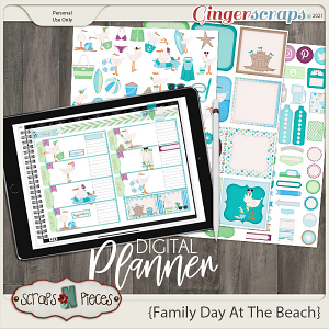Family Day At The Beach Planner Pieces - Scraps N Pieces