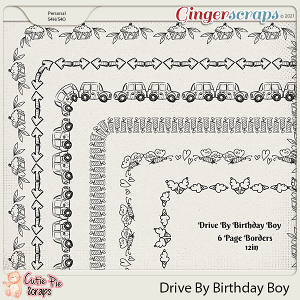 Drive By Birthday Boy Page Borders