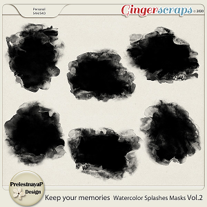 Keep your memories Watercolor Splashes Photomasks Vol.2