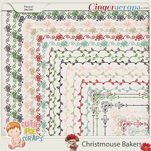 Christmouse Bakers Page Borders