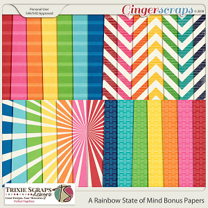 A Rainbow State of Mind Bonus Papers by Trixie Scraps Designs