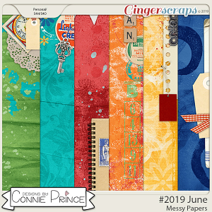 #2019 June - Messy Papers by Connie Prince