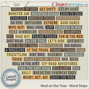 Mud On The Tires - Word Strips