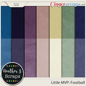 Little MVP: Football CARDSTOCKS by Heather Z Scraps