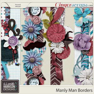 Manly Man Borders by Aimee Harrison
