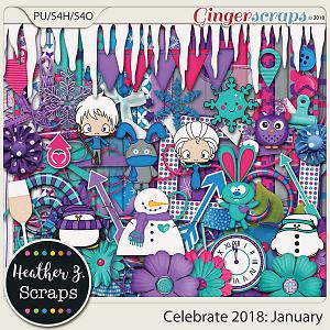 Celebrate 2018: January KIT by Heather Z Scraps