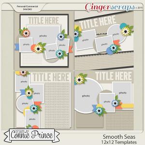 Smooth Seas - 12x12 Templates (CU Ok)