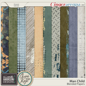 Man Child Blended Papers by Aimee Harrison and Chere Kaye Designs