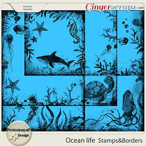 Ocean life Stamps & Borders