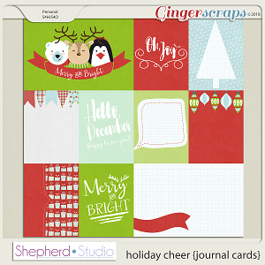 Holiday Cheer Journal Cards for Pocket Scrapbooking by Shepherd Studio