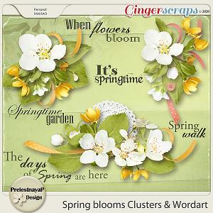 Spring blooms Clusters & Wordart