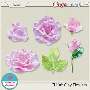 CU 08 - Clay flowers