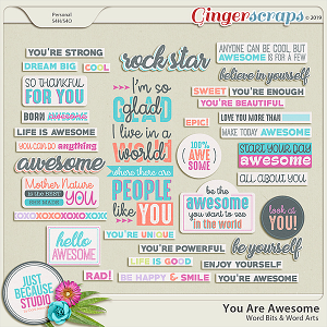 You Are Awesome Wordbits & Wordarts by JB Studio