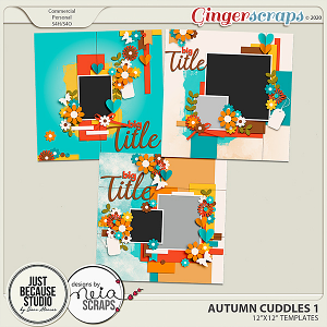 Autumn Cuddles Templates 1 by JB Studio and Neia Scraps