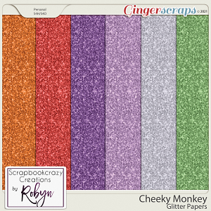 Cheeky Monkey Glitter Papers by Scrapbookcrazy Creations