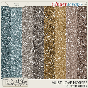 Must Love Horses Glitter Sheets by Tami Miller Designs