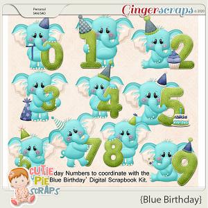 Blue Birthday Numbers