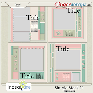 Simple Stack 11 Templates by Lindsay Jane