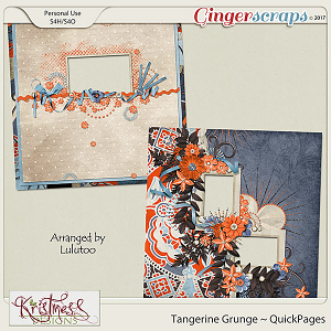 Tangerine Grunge QuickPages
