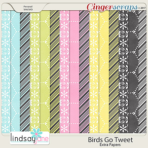 Birds Go Tweet Extra Papers by Lindsay Jane