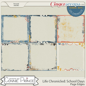 Life Chronicled: School Days - Page Edges by Connie Prince