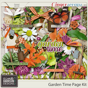 Garden Time Page Kit by Aimee Harrison