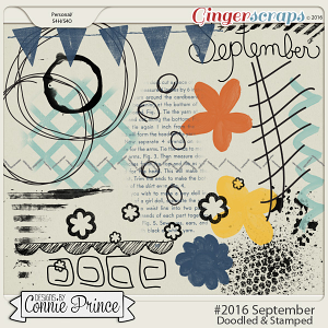 #2016 September - Doodles & Stamps