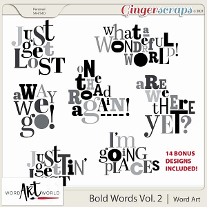 Bold Words Vol. 2 Word Art