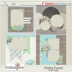 Pretty Forest Quick Pages by Lindsay Jane
