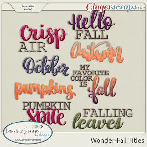 Wonder-Fall Titles